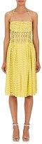 Nina Ricci WOMEN'S COTTON EYELET HALTER DRESS
