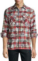 Robert Graham Odeon Long-Sleeve Plaid Sport Shirt, Red