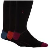 J By Jasper Conran Designer Black Heel Block Ankle Socks