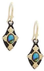 Armenta Champagne Diamond & Gemstone Kite Earrings