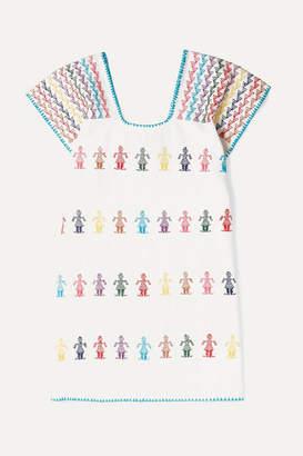 Pippa Holt Kids - Embroidered Cotton Kaftan - White