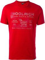 Woolrich logo print T-shirt - men - Cotton - XL