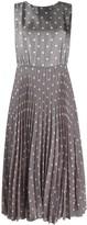Seventy Sleeveless Polka Dot Silk Dress