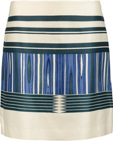 Tory Burch Mikado printed silk and cotton-blend mini skirt