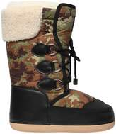 DSQUARED2 Camouflage Nylon & Faux Leather Boots
