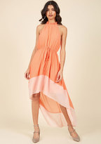 ModCloth Befitting of Fame Maxi Dress in Peach in L