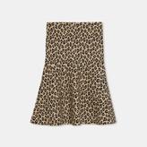 Theory Leopard Knit Skirt