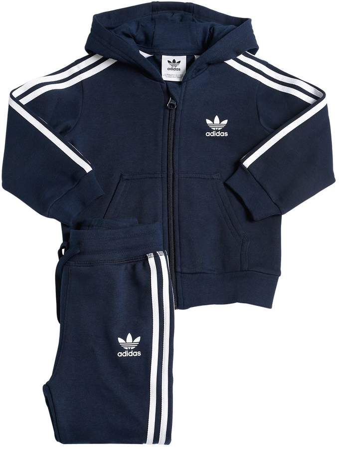 adidas Cotton Blend Zip Sweatshirt & Sweatpants