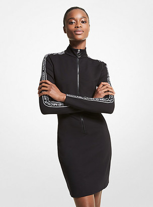Michael Kors Zippered Stretch Knit Mini Dress