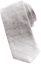 Ted Baker Pashion Small Paisley Skinny Silk Tie, Silver