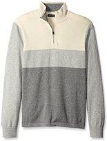 Nautica Men's Color-Block Quarter-Zip Sweater