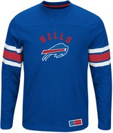"Majestic Buffalo Bills NFL ""Powerful Hit"" Men's Long Sleeve Crew Shirt"