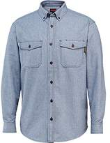 Wolverine Men's Drummon Long Sleeve MARL Texture Flannel Shirt