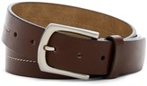 Steve Madden Center Stitched Leather Belt