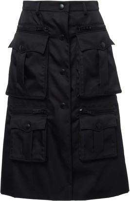 Prada Shell Cargo Midi Skirt