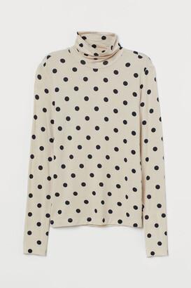 H&M Modal polo-neck top