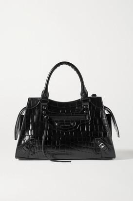 Balenciaga Neo Classic City Mini Croc-effect Leather Tote - Black