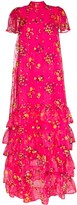Erdem Aurelia tiered floral-print tulle gown