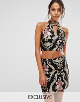 Missguided Jacquard Sleeveless Top