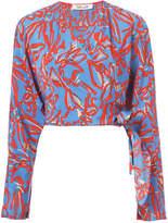Diane von Furstenberg Long-sleeve crossed cropped top