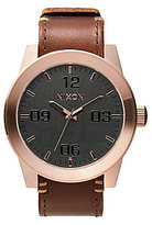 Nixon The Corporal Leather Strap Watch