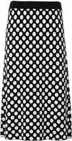 House of Holland polka dot knit skirt