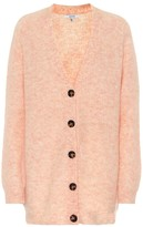 Ganni Wool and mohair-blend cardigan