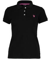 U.S. Polo Assn. Women's Polo Shirts ANTHRACITE - Black Small Pony Polo - Women