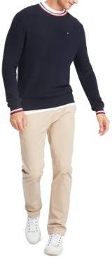 Tommy Hilfiger Men's Geneva Regular-Fit Tipped Ribbed-Knit Sweater
