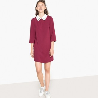 La Redoute Collections Peter Pan Collar Shift Dress