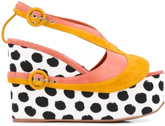 Missoni Buckled Wedge Sandals