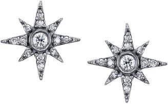 Sheryl Lowe Pave Diamond North Star Mini Stud Earrings