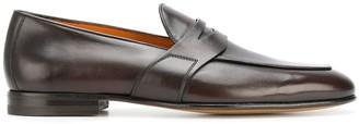 Santoni almond toe loafers