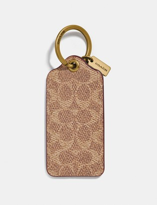 Coach Key Ring In Signature Canvas