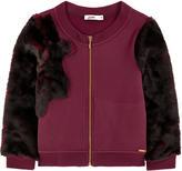 Junior Gaultier Faux fur sweatshirt