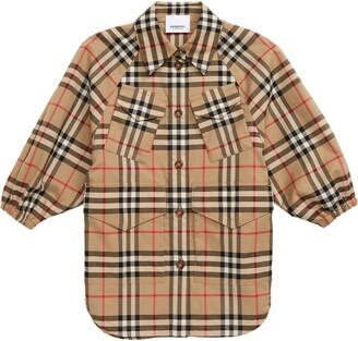 Burberry Teigan Check Print Jacket