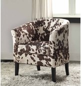 Linon Andrew Barrel Club Chair Black & White Print