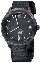 Mondaine 'Helvetica No.1 Bold' Round Nylon Strap Watch, 43mm
