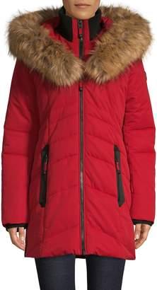 Point Zero Faux Fur-Trimmed Hooded Jacket