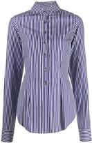 Romeo Gigli Pre Owned 1997 striped slim shirt