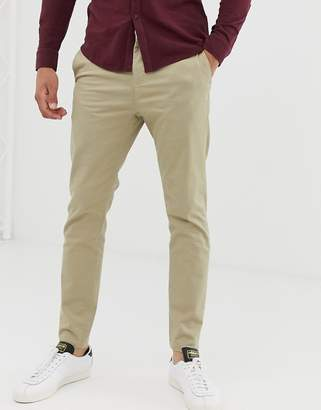 New Look skinny chinos in tan-Stone