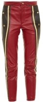 Chloé Slim-leg cropped leather trousers
