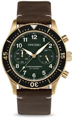 Vincero Watches The Outrider - Brushed Gold/Army