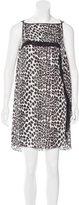 Robert Rodriguez Silk Leopard Print Dress w/ Tags