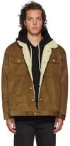 Naked & Famous Denim Denim Denim SSENSE Exclusive Brown Oversized Sherpa Jacket