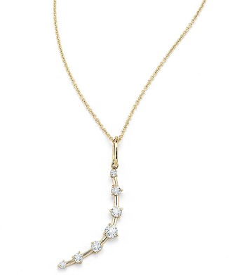 Jade Trau Rae White Diamond Crescent Moon Yellow Gold Necklace