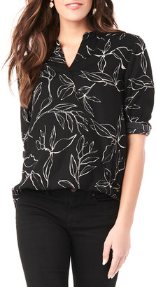 Loyal Hana Maternity Evelyn Printed Long-Sleeve Wrap Shirt
