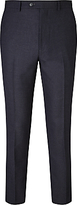 John Lewis Crepe Tailored Suit Trousers, Navy