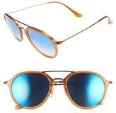 Ray-Ban Women's 53Mm Aviator Sunglasses - Brown
