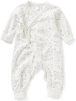 Petit Lem Newborn-6 Months Asymetrical Printed Long-Sleeve Coverall